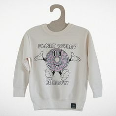 """""""Donut Worry"""" Sweater Tiny Whales AW14 """"Dreamers Collection"""" Made in Sunny Los Angeles CA"""