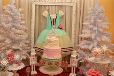 Lovely dessert table at a Nutcracker party!  See more party ideas at CatchMyParty.com!  #partyideas #christmas