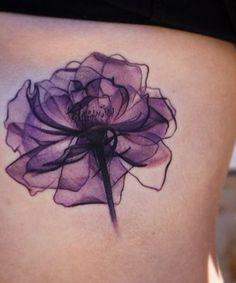 Stunning X-Ray Flower Tattoo Design for Women