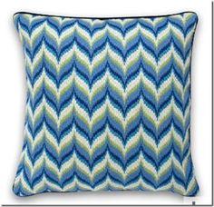 blue / green bargello design ideas from Jonathan Adler