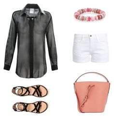 Designer Clothes, Shoes & Bags for Women Furla, Alaska, Summer Outfits, Outfit Ideas, Shoe Bag, Frame, Polyvore, Stuff To Buy, Shirts