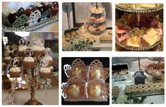 Grace Kelly inspired Dessert Table Pure luxury, full of silver, sparkle and gourmet mini desserts. Dessert Bars, Dessert Table, Sweet Buffet, Toddler Bibs, Mini Desserts, Grace Kelly, Burp Cloths, Baby Accessories, Create Your Own