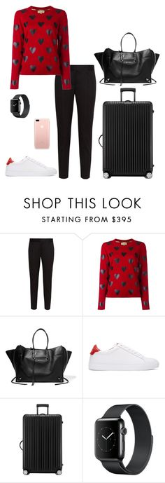 """Untitled #434"" by nadiralorencia on Polyvore featuring STELLA McCARTNEY, Burberry, Balenciaga, Givenchy and Rimowa"