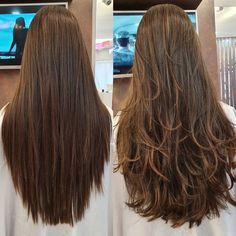 Haircuts For Long Hair With Layers, Haircuts Straight Hair, Long Hair With Bangs, Long Layered Hair, Long Hair Cuts, Long Hair Highlights, Hair Tinsel, Long Indian Hair, Blonde Hair Looks