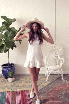 PISTOL DRESS - WHITE