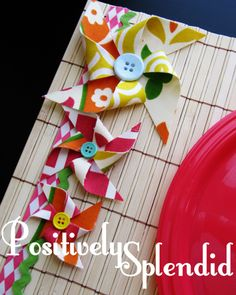 Make Pinwheel Placemats - Maybe use idea on table cloth for food table?