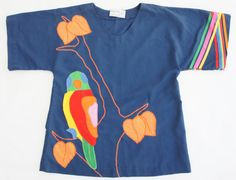 Applique shirt By Alfredo's Wife Jerome Arizona by SycamoreVintage, $19.00