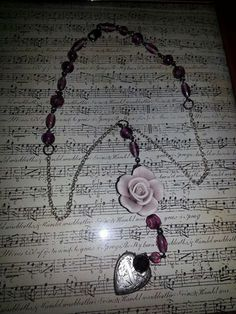 Purple Rose by MADDjewels on Etsy, $25.00