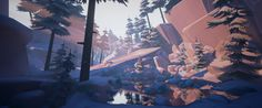 ArtStation - Stylized Snowy Wilderness, Nicholas Balm
