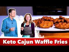 Keto Cajun Waffle Fries Recipe   Eric and Karen Berg - YouTube Low Carb Dinner Recipes, Keto Recipes, Tapeworm Diet, State Foods, Keto Waffle, Keto Cauliflower, Fries Recipe, Keto Snacks, Keto Foods