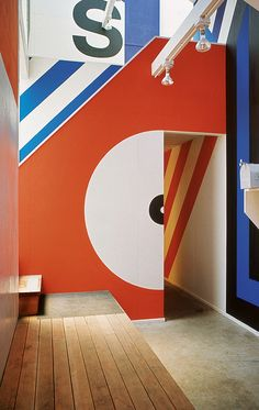 Barbara Stauffacher Solomon is perhaps best known for the Gigantic and exuberant Supergraphics painted on the walls of The Sea Ranch Moonraker Recreation Center.