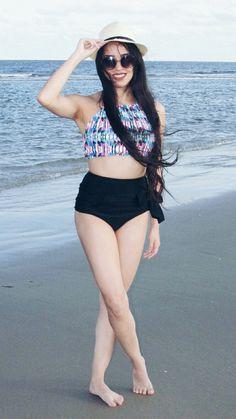 Biquíni, hots pants, praia, foto praiana.