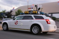 Modernized re-envisioning of the Ghostbusters Ectomobile, built from a Dodge Magnum. Dodge Magnum, Summit Racing, Ghost Busters, All Cars, Jeep, Van, Vehicles, Polished Chrome, Album