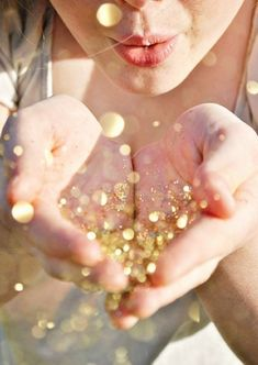 Blowing Glitter Photos! Glitter! You two could even blow the glitter together.
