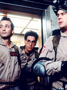 Bill Murray, Harold Ramis and Dan Aykroyd. Ghost Busters | 1984