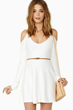 Close Friends Skater Dress, $58.00 #ivory