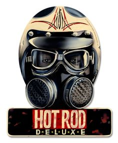 Vintage Trucks Muscle Hot Rod - Hot Rod - Where It All Began Helmet Sign. Nitro Racing Mask Sign for all you Hot Rod Drag Racing Fans! Rat Rods, Rat Fink, Vintage Racing, Vintage Cars, Vintage Helmet, Vintage Fox, Course Automobile, Harley Davidson, R80