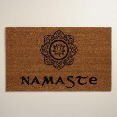 One of my favorite discoveries at WorldMarket.com: Namaste Doormat