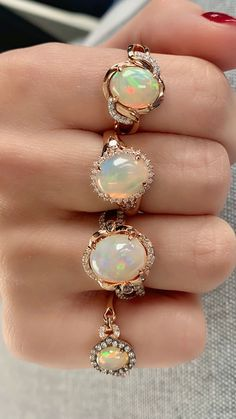 Browse the ornate ring, wristwear and neckwear jewelry collection of Le Vian. Cute Jewelry, Jewelry Box, Jewelry Rings, Jewelery, Jewelry Accessories, Unique Jewelry, Diy Rings, Le Vian, Opal Jewelry