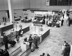 negative: San Francisco International Airport (SFO), Terminal Building lobby, c. 1965 | http://www.flysfo.com/museum/