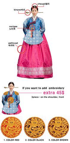 "royal hanbok | Korean royal women cosutme in Joseon dynasty ""dangui hanbok"""