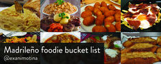 Madrileño foodie bucketlist showcases the most authentic and unmistakable Spanish dishes you will find in Madrid.Taste and enjoy local food. Cubed Potatoes, Spanish Dishes, Seasonal Food, Best Vacations, Tour Guide, Madrid, Cheap Tickets, Favorite Recipes, Tortillas