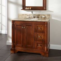 "36"" Tullford Vanity for Undermount Sink - Walnut"