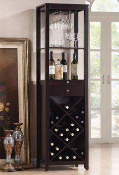 45 Wine Cabinet Bottle Holder Glass Rack Storage Kitchen Home Pub Liquor Bar New #WineCabinet