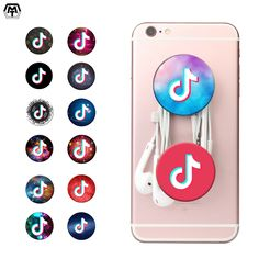 MT Music Pattern POP Phone Sockets Hand Finger Ring Holder Flexible Air-bag Expanding Stand and Grip Mount Mobilephone Socket