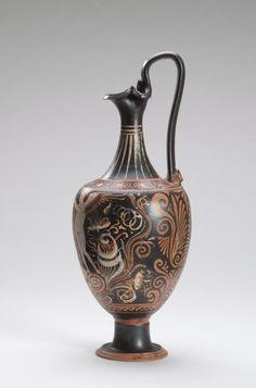 Oenochoe (Apulian red-figure ware) 320 BC-310 BC.