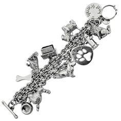 stdibs.com | Sterling Silver Dog Charm Bracelet