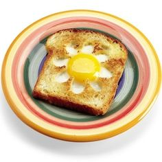 Egg In A Hole: Flowers (use low carb/gluten free bread; use different shapes for different holidays or for fun)