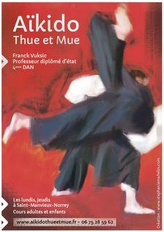 Affiche d'Aïkido pour l'association sportive Thue et Mue - Stéphanie Mahelin