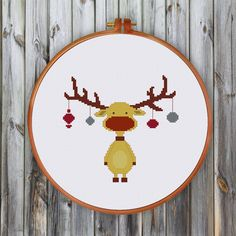 Christmas Reindeer cross stitch pattern Modern от ThuHaDesign