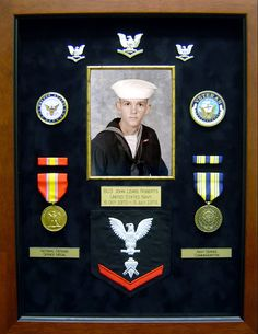 The same friend thought that the shadow box looked so good that he had one made for his best friend. There again it's not about how many medals you earned but rather you served your country and that alone is worthy of having this done for the recognition.