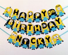 Hey, I found this really awesome Etsy listing at http://www.etsy.com/listing/157960115/despicable-me-minion-birthday-banner