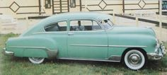 1952 Chevy Fleetline, my first car, purchased for $50 in 1965.