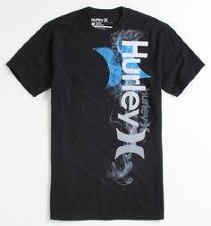 Hurley Mens Lite Premium Tee - Black X Med Size - Multi color Hurley  graphic on front. Logo loop at bottom. Product Features Hurley Black M f6b14f79a30