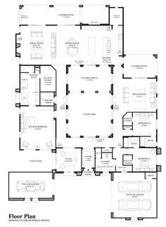 plan 16813wg center courtyard beauty window master closet and house