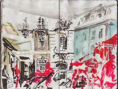 Urban Sketchers Portugal: Feira da Ladra