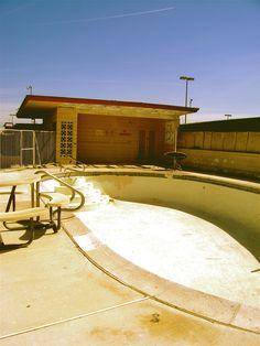abandoned motel pool on the Vegas Strip  photo by Cori Kyle