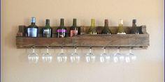 Wooden Wine Glass Rack
