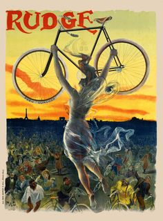 Poster goddess vintage cycling french french