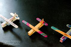 Clothespin/Popsicle stick magnets are ideal for displaying your kiddies' artwork on the fridge. (Make Happy)