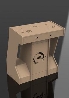 2 Player Pedestal Flat Pack Kit | Arcade diy | Pinterest | Arcade ...