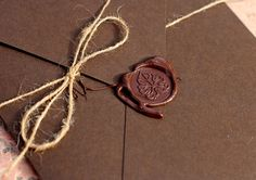Invitation with sealing wax