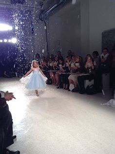 Our little Elsa flower girl making her debut #AngeloAccess