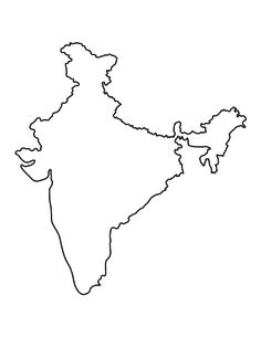 India : free map, free blank map, free outline map, free base map ...