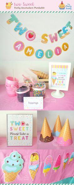 TWO Sweet Ice Cream Sundae Donut Party Pack