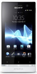 Sony Xperia U ST25A-BW Unlocked Phone with Android 2.3 OS and 3.5-Inch Touchscreen–U.S. Warranty (Black/ White)